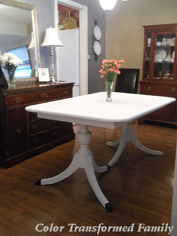 chalk paint dining room table. You  Instant Family Heirloom Color Transformed