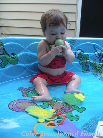 Father's Day 2012, swimming