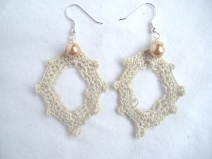 crochet diamond earrings 3