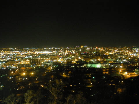 view of birmingham at night