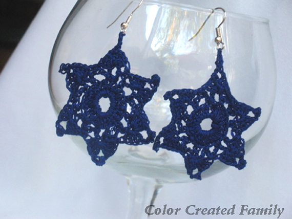 crochet blue star 4