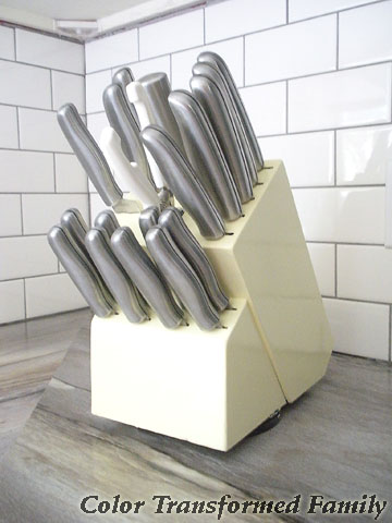 personalized color knife block