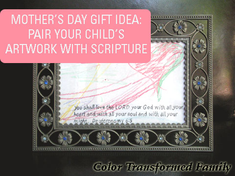 Pair your child's artwork with scripture.