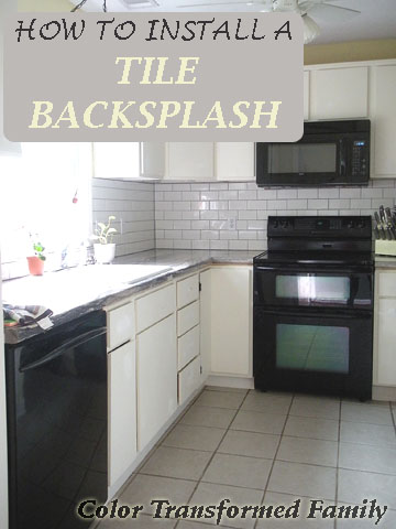 Tips For How To Install A Tile Backsplash