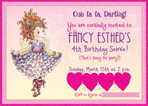 Fancy Nancy Birthday Invitation