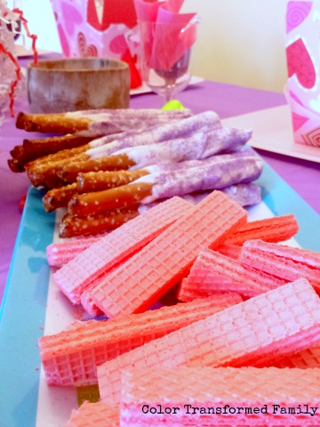 Pink and Purple Fancy Nancy Birthday Party food